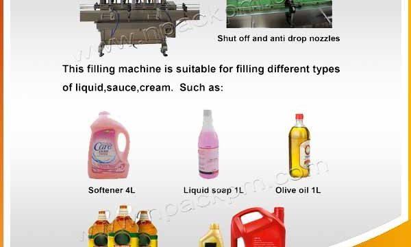 Avtomatik 2, 4, 6, 8, 10, 12 başlıq yeməli yemək yağı doldurma maşını