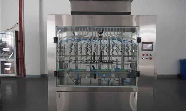 Avtomatik 12 başlıq atmosfer təzyiqi maye doldurma maşını