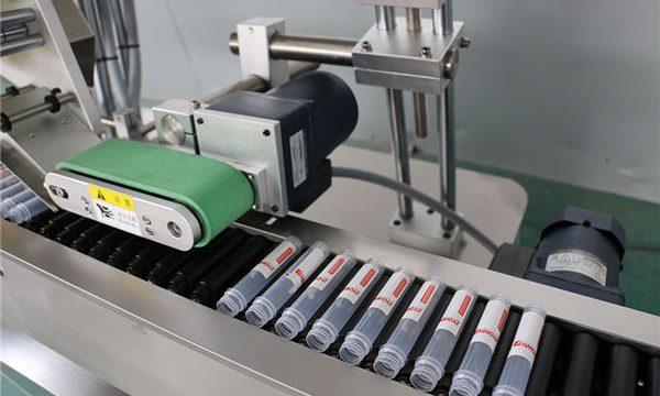 Üfüqi Avtomatik Enjeksiyon Vial Etiket Maşın